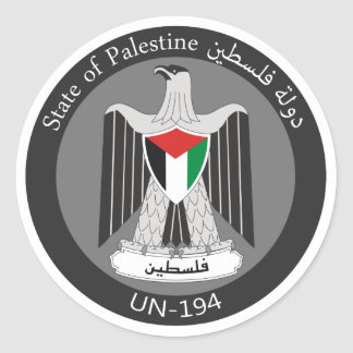 Estado de Palestina Pegatina Redonda