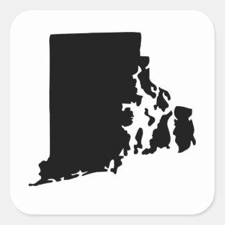 Estado de Rhode Island americano Pegatina Cuadrada