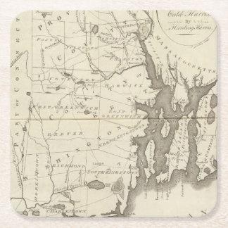 Estado de Rhode Island Posavasos Personalizable Cuadrado