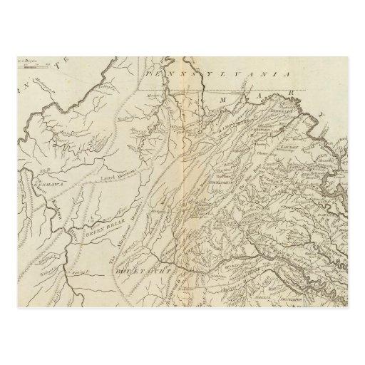 Estado de Virginia Tarjeta Postal