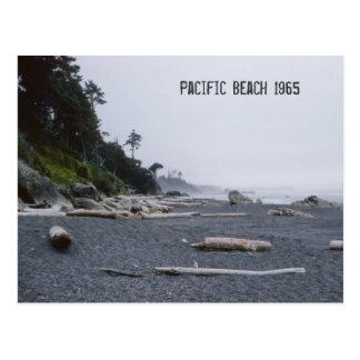 Estado de Washington pacífico de la playa Postal