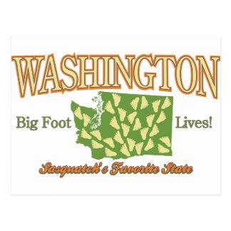 ¡Estado de Washington - vidas de Bigfoot! Postal