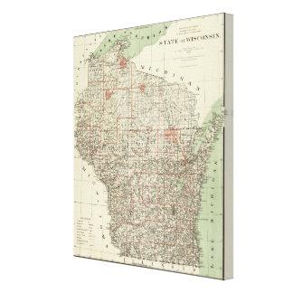 Estado de Wisconsin Impresion En Lona