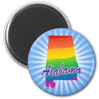 Estado del arco iris de Alabama Imán Redondo 5 Cm