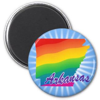 Estado del arco iris de Arkansas Imán Redondo 5 Cm