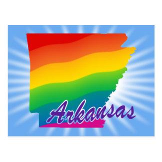 Estado del arco iris de Arkansas Tarjetas Postales