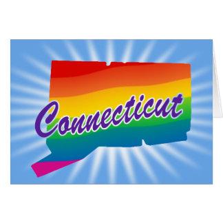 Estado del arco iris de Connecticut Tarjeta De Felicitación