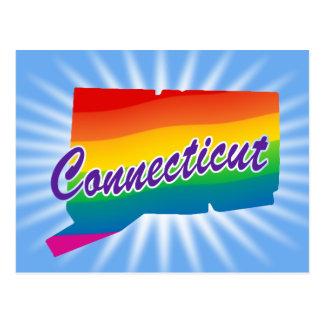 Estado del arco iris de Connecticut Tarjetas Postales