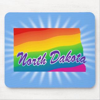 Estado del arco iris de Dakota del Norte Alfombrilla De Ratones