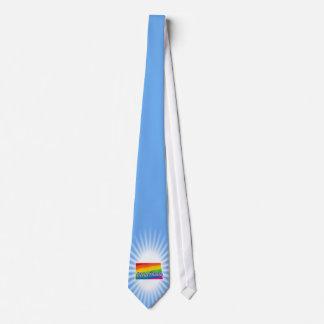 Estado del arco iris de Dakota del Norte Corbata Personalizada