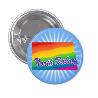 Estado del arco iris de Dakota del Norte Pin Redondo De 1 Pulgada