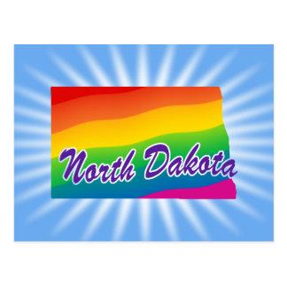 Estado del arco iris de Dakota del Norte Postales