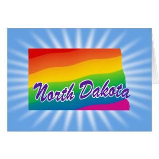 Estado del arco iris de Dakota del Norte Tarjeta De Felicitación