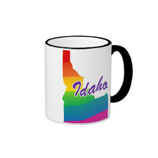 Estado del arco iris de Idaho Tazas De Café