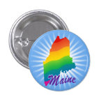 Estado del arco iris de Maine Pin Redondo 2,5 Cm