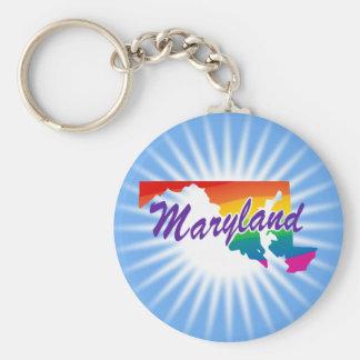 Estado del arco iris de Maryland Llaveros