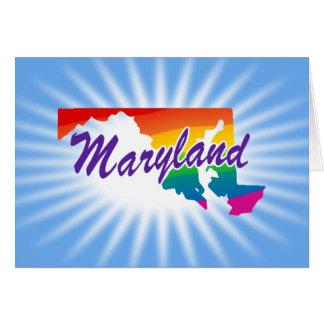 Estado del arco iris de Maryland Tarjeta De Felicitación