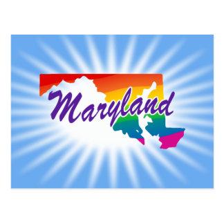 Estado del arco iris de Maryland Tarjeta Postal