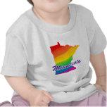 Estado del arco iris de Minnesota Camisetas
