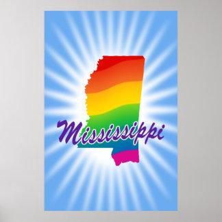 Estado del arco iris de Mississippi Posters