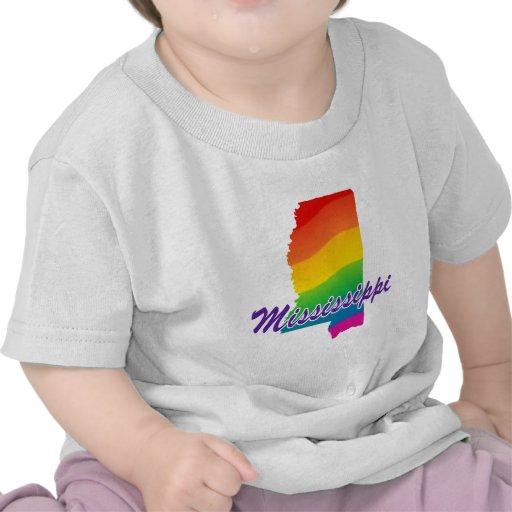Estado del arco iris de Mississippi Camiseta