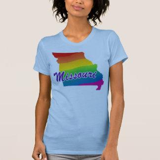 Estado del arco iris de Missouri Playera