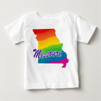 Estado del arco iris de Missouri Playera De Bebé