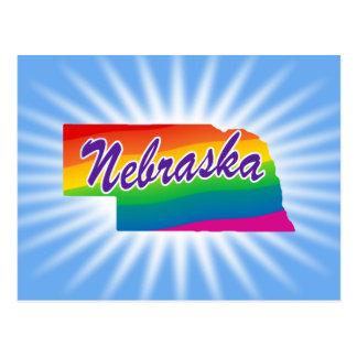 Estado del arco iris de Nebraska Tarjeta Postal