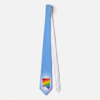 Estado del arco iris de Nevada Corbata Personalizada