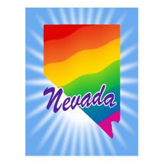 Estado del arco iris de Nevada Postal