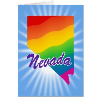 Estado del arco iris de Nevada Tarjeta De Felicitación