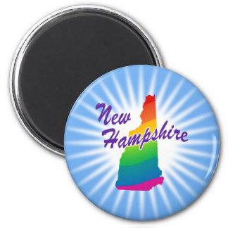 Estado del arco iris de New Hampshire Imán Redondo 5 Cm