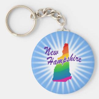 Estado del arco iris de New Hampshire Llavero Redondo Tipo Pin