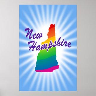 Estado del arco iris de New Hampshire Póster