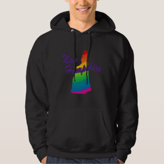 Estado del arco iris de New Hampshire Suéter Con Capucha