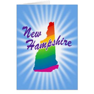 Estado del arco iris de New Hampshire Tarjeta De Felicitación
