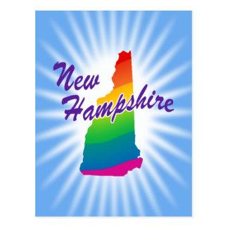 Estado del arco iris de New Hampshire Tarjeta Postal