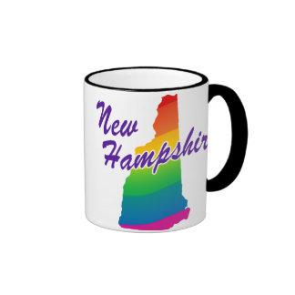 Estado del arco iris de New Hampshire Taza De Dos Colores
