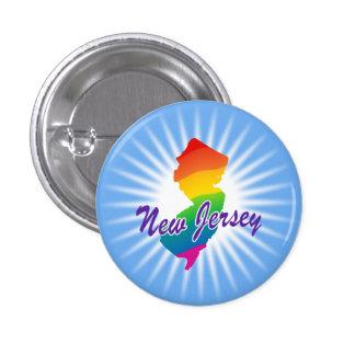 Estado del arco iris de New Jersey Pin Redondo 2,5 Cm
