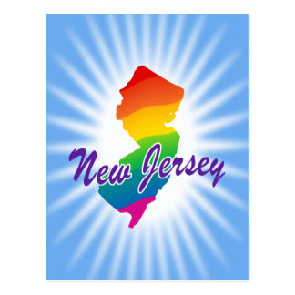Estado del arco iris de New Jersey Tarjeta Postal