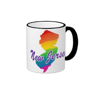 Estado del arco iris de New Jersey Taza A Dos Colores