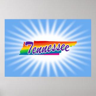 Estado del arco iris de Tennessee Póster