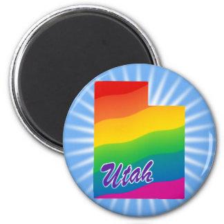 Estado del arco iris de Utah Imán Redondo 5 Cm