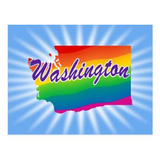 Estado del arco iris de Washington Postales