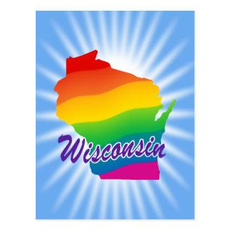 Estado del arco iris de Wisconsin Tarjetas Postales