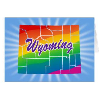 Estado del arco iris de Wyoming Tarjeta De Felicitación