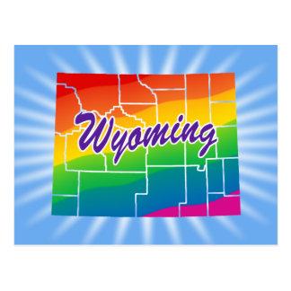 Estado del arco iris de Wyoming Tarjetas Postales