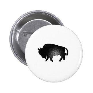 estado del búfalo pin redondo 5 cm