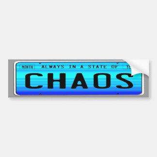 Estado del caos pegatina para auto