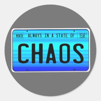 Estado del caos pegatina redonda